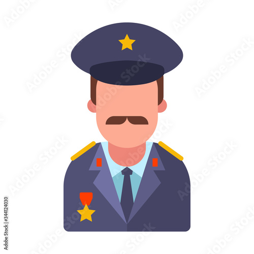 Fototapeta mustachioed army general