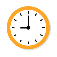 Wall Clock Icon. Time Icon