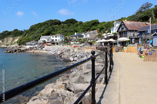 Fototapeta A view of Steephill Cove near Ventnor on the Isle of Wight, England