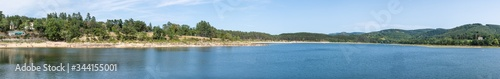 Photo Panorama of the Bassin de Saint-Ferreol in the Montagne Noire of southern France