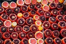 Pomegranate Pattern. Cut Pomeg...