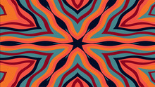Abstract Kaleidoscope Style Background. Creative Ornament. Stock Illustration