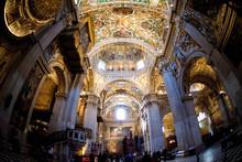 Church In Italy Fisheye View