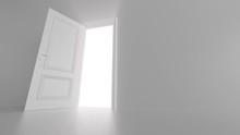 Shine Of An Open Door In A Bri...