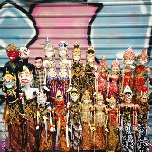 Colorful Dolls In Traditional Clothes Slika na platnu
