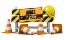 3d Illustration Website Under Construction