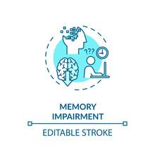 Memory Impairment Concept Icon...