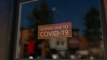 Close-up On A Closed Sign In T...