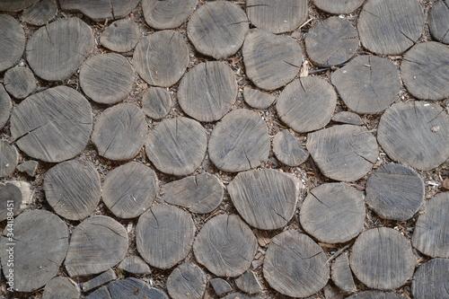 Obraz tekstura, drewna, kamienie, mur, drewno na opał, woodpile, stos, pryzma, deseń, opoka, dzienniki, drzew, abstact, kamienie, drewniane, braun, naturalny, drewno, stary, ciąć, charakter, chropowaty, mat - fototapety do salonu