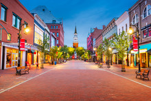 Burlington, Vermont, USA At Church Street Marketplace
