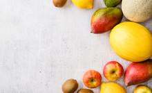 Fruits Frame Background.