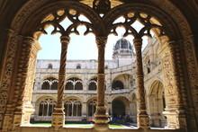 The Jeronimos Monastery, Famous Lisbon Landmark In Belem In Manuelino Style