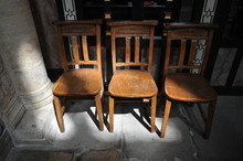 Old Fashioned Chairs In The Ch...