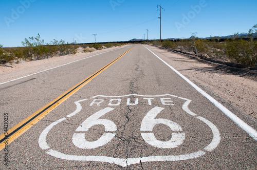 Route 66 highway. California. USA. Canvas Print