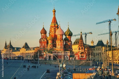 Fototapety, obrazy: St. Basil's Cathedral Dominating Red Square
