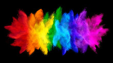 Colorful Rainbow Holi Paint Co...