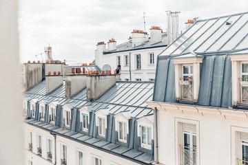 Panel Szklany Paryż Dächer von Paris