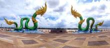 Panoramic View Of Snake Statue...
