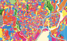 New Haven, Connecticut, USA, Colorful Vector Map