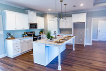 Open Floor Plan Kitchen In A N...