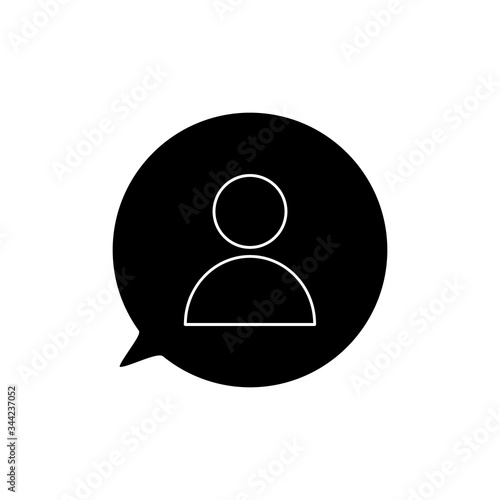 Photo Public charity black silhouette vector illustration isolated on white background