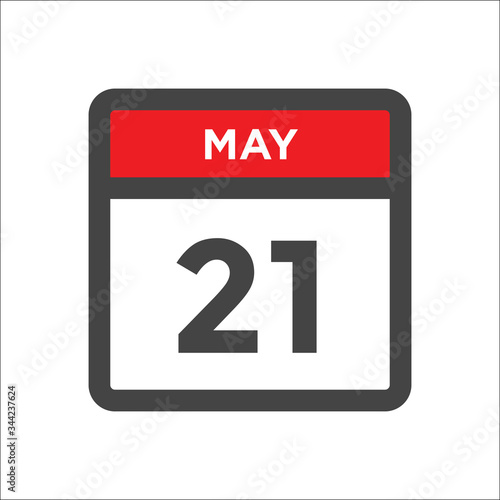 Tela May 21 calendar icon w day of month
