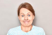 Portrait Of Funny Goofy Cheerf...