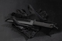 Tanto Combat Knife, Black Tact...