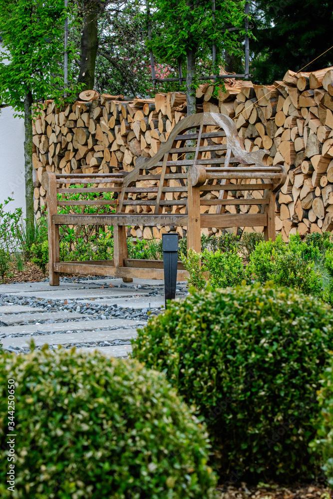 Fototapeta ogród, nowoczesny ogród ,