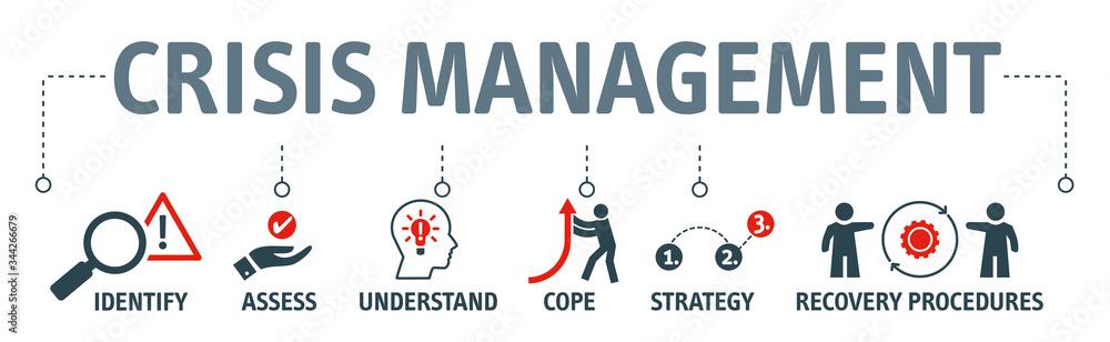 Fototapeta crisis management vector illustration concept