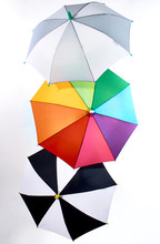 Stack Of Multicolored Umbrellas