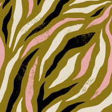 Background With Colorful Zebra...