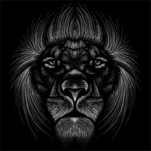 The Vector Logo Lion For Tatto...