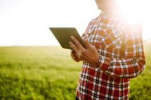 Farmer With A  Digital Tablet ...