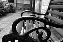 Close-up Of Bench At Park