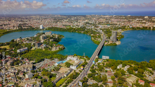High Angle View Of Buildings In City Poster Mural XXL