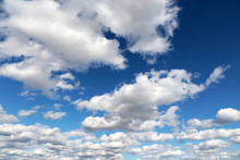 Blue Sky Covered With White Cu...