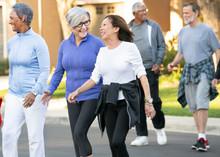 Senior Adults Walking In Commu...