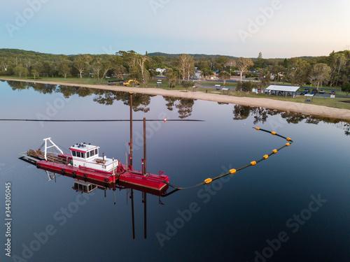 Vászonkép Dredging Lake Cathie NSW Australia