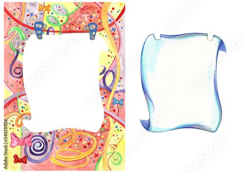 Congratulation card, happy birthday, party present children, cut and stick, A1 Canvas Print