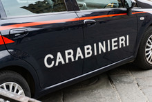 Carabinieri Sign On A Italian ...