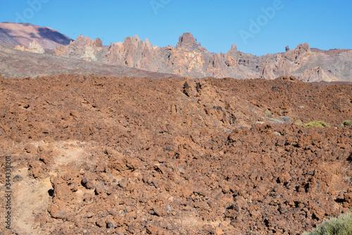 Zastygła lawa wulkaniczna, Teneryfa Obraz na płótnie