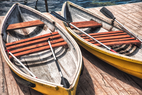 two boats ashore Canvas Print