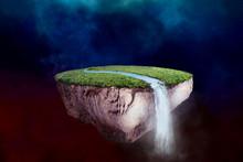 Fantasy Floating Island With R...
