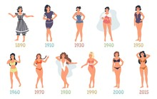 Swimming Suit Evolution, Vecto...