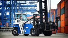 Commercial Land Vehicle At Warehouse