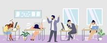 Professional Burnout Syndrome Concept Vector Flat Illustration