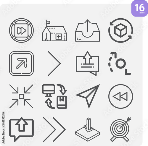 Simple set of commanders related lineal icons. Canvas