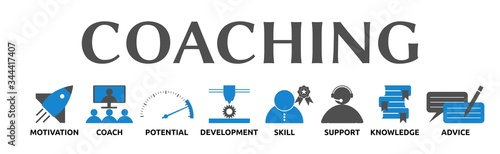 Banner zum Thema: Coaching mit Symbolen Canvas Print