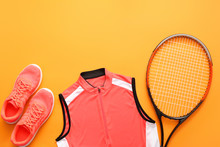 Sportswear And Tennis Racket O...